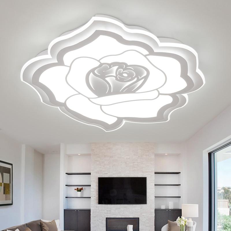 Minimalista Moderno Lampadario LED Light Fixture Rosa Plafoniera per ...