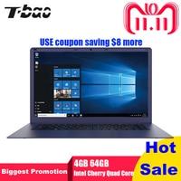 T Bao Tbook R8 Laptop 15.6 Inch 4GB RAM 64GB Windows 10 English Version Intel Cherry Trail X5 Z8350 Quad Core 1.44GHz EMMC HDMI
