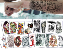 1piece Taty Flash Tattoo Gold Tattoo Arm Metallic Colorful Body Art Tattoo Styles Body Painting Glitter For Cool Men Sexy Women