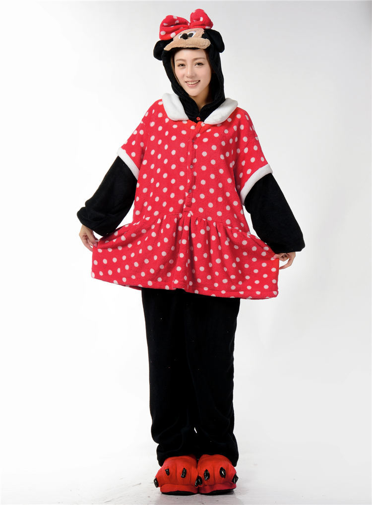 The autumn/winter flannel animal cartoon conjoined mini Mickey Mouse in the toilet version of the home dress costumes.