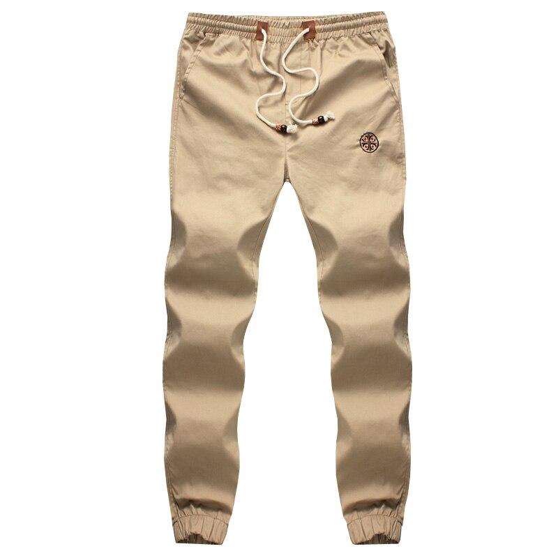 New Fashion Drawstring Men Pants High Quality Cotton Mens Joggers Casual Sweatpants Mens Trousers Size:M~5XL