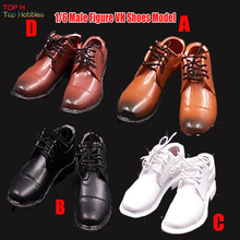 "1:6 Scale VH Toy Black/White/Yellow Brown/Red Brown Leather Shoes Without feet For 12"" Male Action Figure Accessories"