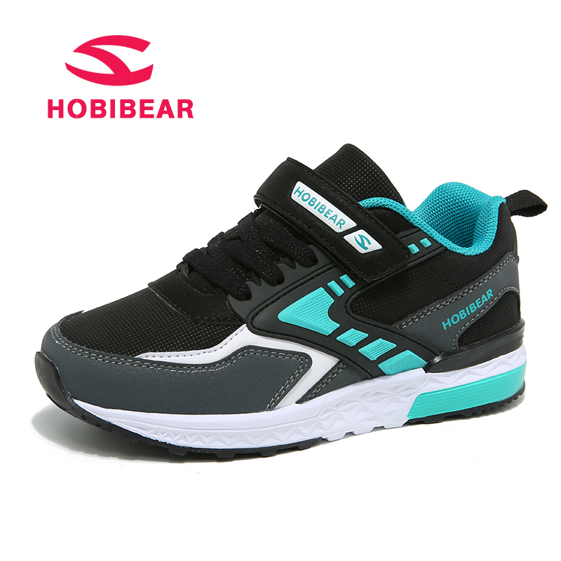 HOBIBEAR Kids Casual Sport Shoes Children Sneakers For Boys Running Shoes Girls Sneakers Anti-Slippery Leather Rubber chaussure 2016 new shoes for children breathable children boy shoes casual running kids sneakers mesh boys sport shoes kids sneakers