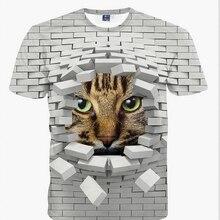 2016 new 3d cat Deadpool T-shirt printed animal t-shirt women men Funny clothing tee shirt Casual Unisex 3d t shirt casual