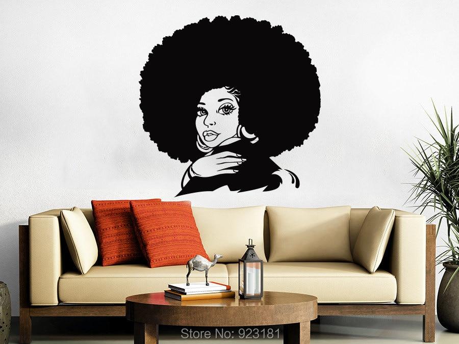 African Woman Tribal African Girl Beauty Salon Wall Art Sticker Decal Home  DIY Decoration Wall Mural Images