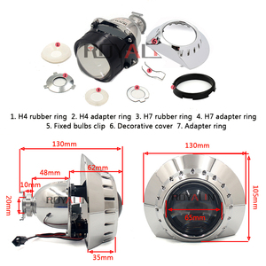 Image 4 - ROYALIN Bi Xenon Car Mini Projector H1 Lens w/ E46 R Shrouds for BMW M3 E90/E91/E92/E93 ZKW E46 External Retrofit headlights