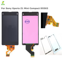 100% Tested Mobile Phone LCDs For Sony Z1 Mini LCD Display Touch Lcd Screen Display with Digitizer Full Assembly+Adhesive