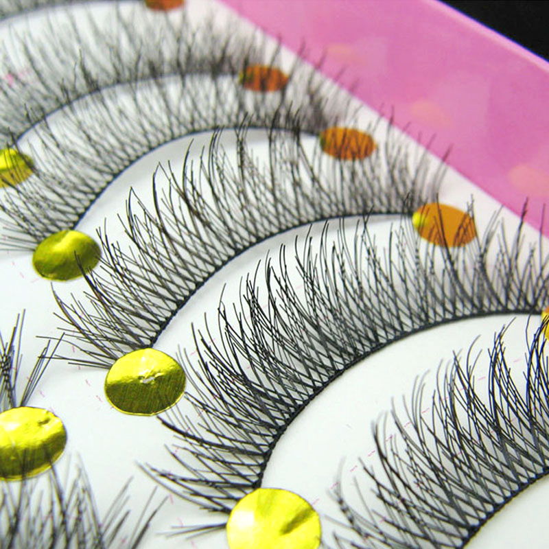 10 Pair Handmade Natural Long False Eyelashes Makeup Eyelash Extensions Eye Lashes Cheap Fake Eyelashes Cilios Posticos
