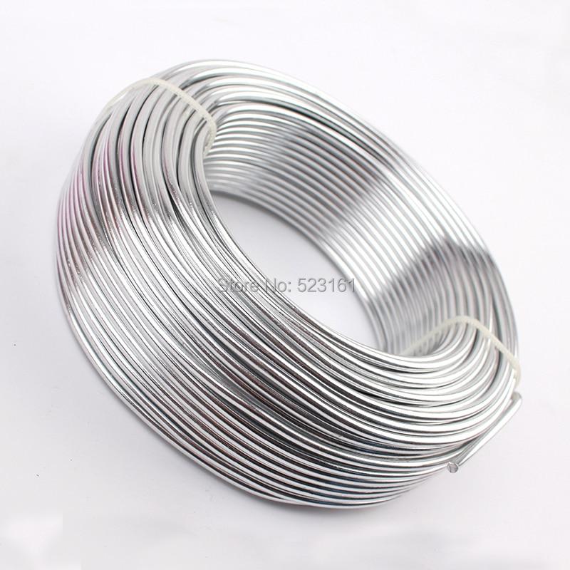 0,5 кг анодированная художественная алюминиевая проволока 2,5 мм 10 Калибр 39 м 43yd цветные украшения Мягкая металлическая проволока постоянные цвета