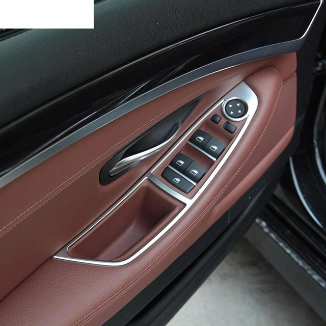 Chrome Car Interior Accessories Window Button Panel Trim For Bmw 5 Series F10 520 525 2011 2017