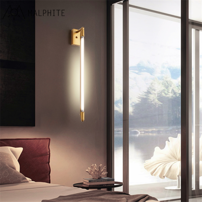 Postmoderne trap gangpad woonkamer spiegel front light T5 buis lange muur slaapkamer bed led creatieve wandlamp - 3