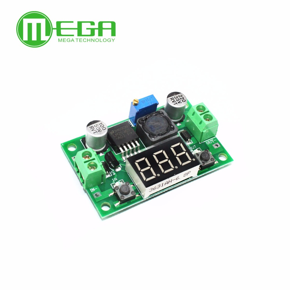 10pcs LM2596 module DC 4.0~40 to 1.3-37V Adjustable Step-Down Power Module + LED Voltmeter