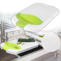 High quality 4 in 1 Multi Function Folding Telescopic Food Chopping Block Kitchen Cutting Board Fruit Meat Slip-resistant Board