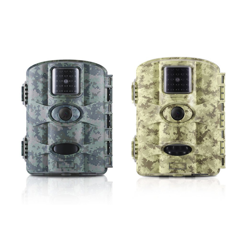 12MP Digital Trail Camera Game Hunting Camera With 60 Degree Camera Lens 2.4 LCD Screen Scouting Surveillance Camera IP65 bestguarder sy 007 360 degree wireless hunting trail
