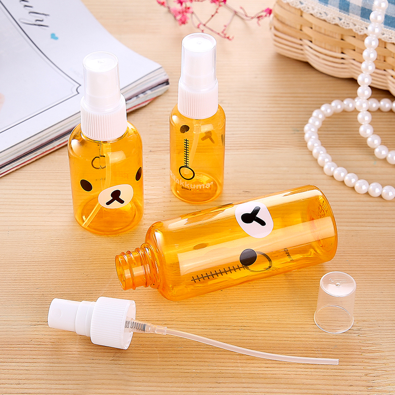 Portable Soap Dispensers New Cute Cartoon Skin Replenishment Bottle Spray Bottle Portable Spray Bottle