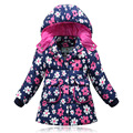 Hot sell 3 Colors Kids Winter Jacket Children Fur Hooded Thick Warm Outerwear Baby girls Winter down Coats And Jackets T0114