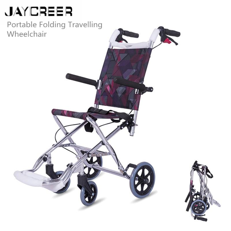 JayCreer Travelling Wheelchair Lightweight Transport Wheelchair