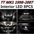 8 шт. Х бесплатная доставка Ошибка Бесплатный LED Интерьер Свет Комплект Пакет для AUDI TT MK1 1988-2007