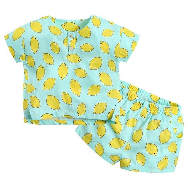 Girls And Boys Kids Clothing Set Custom Print Baby T Shirt Cotton
