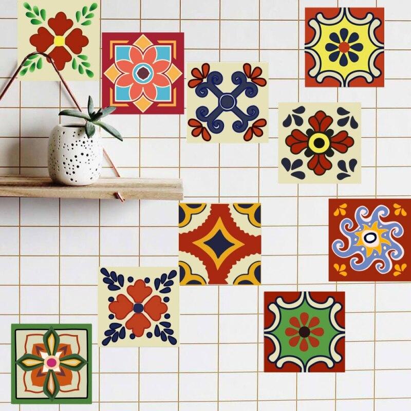 Ванная комната клей Кухня Наклейки на стену мозаика линии талии Плитки DIY Стикеры обои Туалет Водонепроницаемый ПВХ 20 шт./упак.