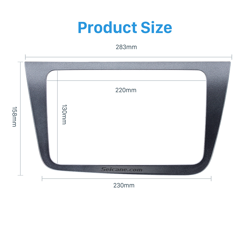 Seicane Perfect Double Din Car Stereo Fascia Radio Frame Dash DVD Player Trim for 2004+ SEAT ALTEA Left Hand Drive (LHD) Panel