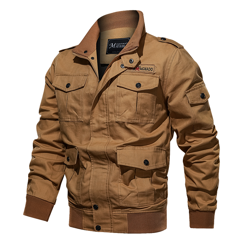 Cotton Military Jacket Men 2019 MA-1 Style Army Jackets Male Brand Multi Pocket Men's Bomber Jackets Plus Size M-6XL Thick Warm