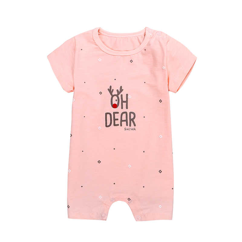 Summer Short Sleeve Rompers Baby Climbing Clothes Cotton Thin Jumpsuit Newborn Baby Boys Girls Cartoon Clothes Pajama Roupa