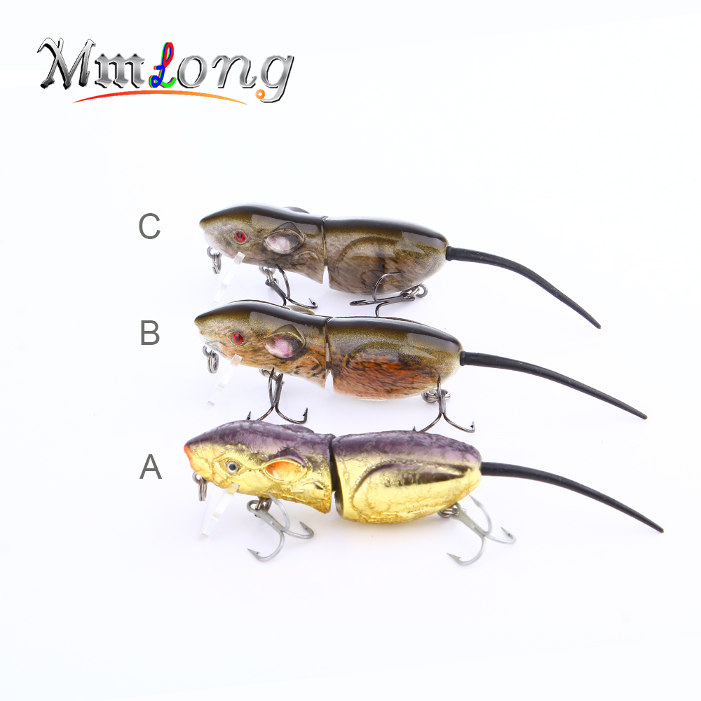 Mmlong 2 5 rat fishing lure realistic mouse crankbait for Mouse fishing lure