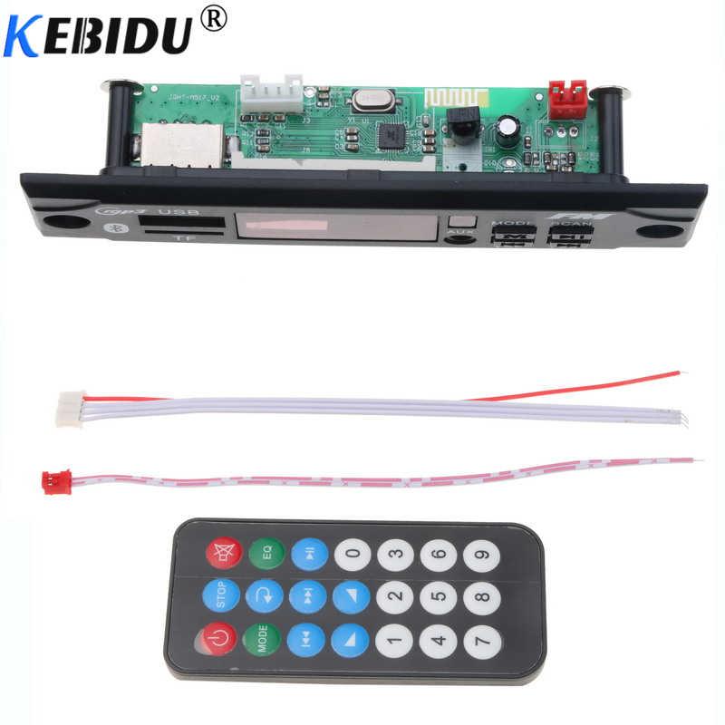 Kebidu ワイヤレス Bluetooth カー MP3 プレーヤーデコーダボードモジュール MP3 WMA WAV AUX オーディオ 3.5 ミリメートル 12 ボルト USB TF FM のための車