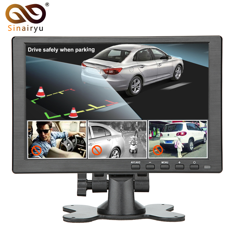 Sinairyu 10.1 Inches 1280*RGB*800 LED Screen Car Monitor Car Stand Alone Monitor with VGA HDMI AV USB BNC/TV 10198-3