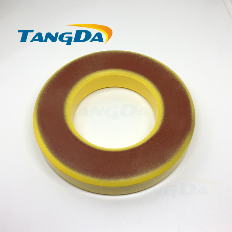 Tangda Iron powder cores T400-8 OD*ID*HT 102*57*16.5 mm 60nH/N2 35uo Iron dust core Ferrite Toroid Core toroidal yellow red AG купить в Москве 2019