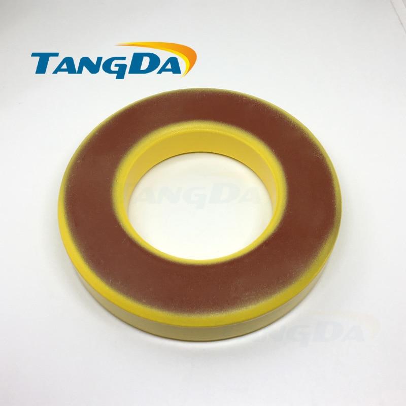 Tangda Iron powder cores T400-8 OD*ID*HT 102*57*16.5 mm 60nH/N2 35uo Iron dust core Ferrite Toroid Core toroidal yellow red AG tangda iron nickel cores 50 50%ni ch234060 smps rfi hi flux high flux core 23 4 14 4 8 9 60u