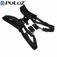 PULUZ Double Dual Camera Shoulder Strap Quick Rapid Soft DSLR Professional K Pattern Camera For Canon