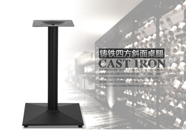 Ghisa base da tavolo da tavolo gambe panchina di metallo gambe di