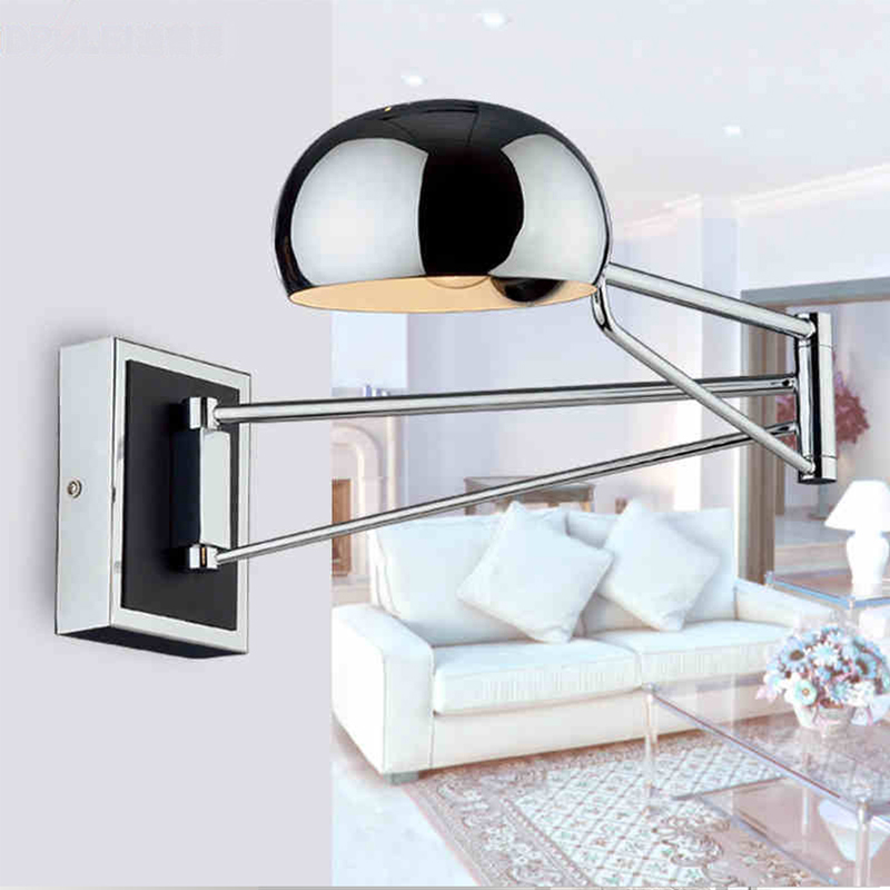 Modern sconce wall lamp light stainless steel with flexible arm for reading bedroom living room led wall light lighting fixtures rotatable flexible modern led bathroom mirror light stainless steel wall lamp for home living lights