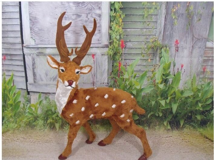lovely simulation deer model polyethylene & furs big deer doll gift about 80x30x60cm 2148lovely simulation deer model polyethylene & furs big deer doll gift about 80x30x60cm 2148