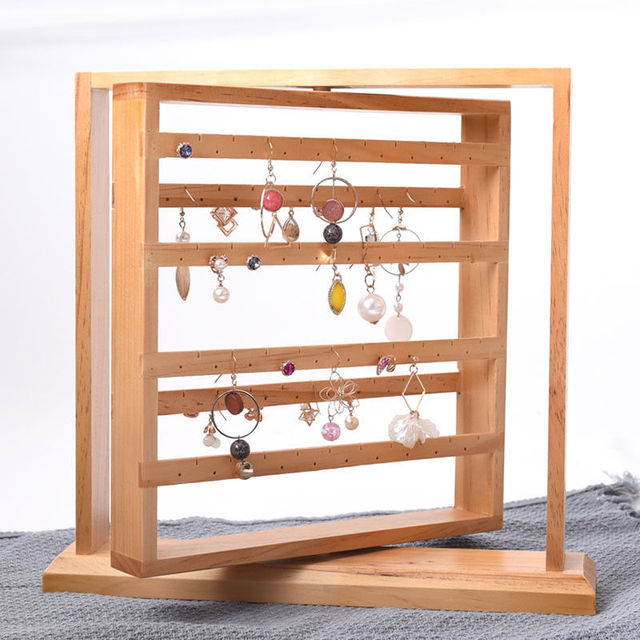 Wooden Tier Bar Bracelet Bangle Jewelry Holder Stand Display