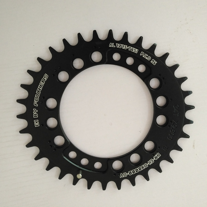 FOURIERS DX8000 oval MTB Bicycle Chain Ring Chainwheel 11 speed 96 PCD mountain bike crankset chainring 34 48T|bicycle chain ring|chainrings mountain bike11 speed - AliExpress