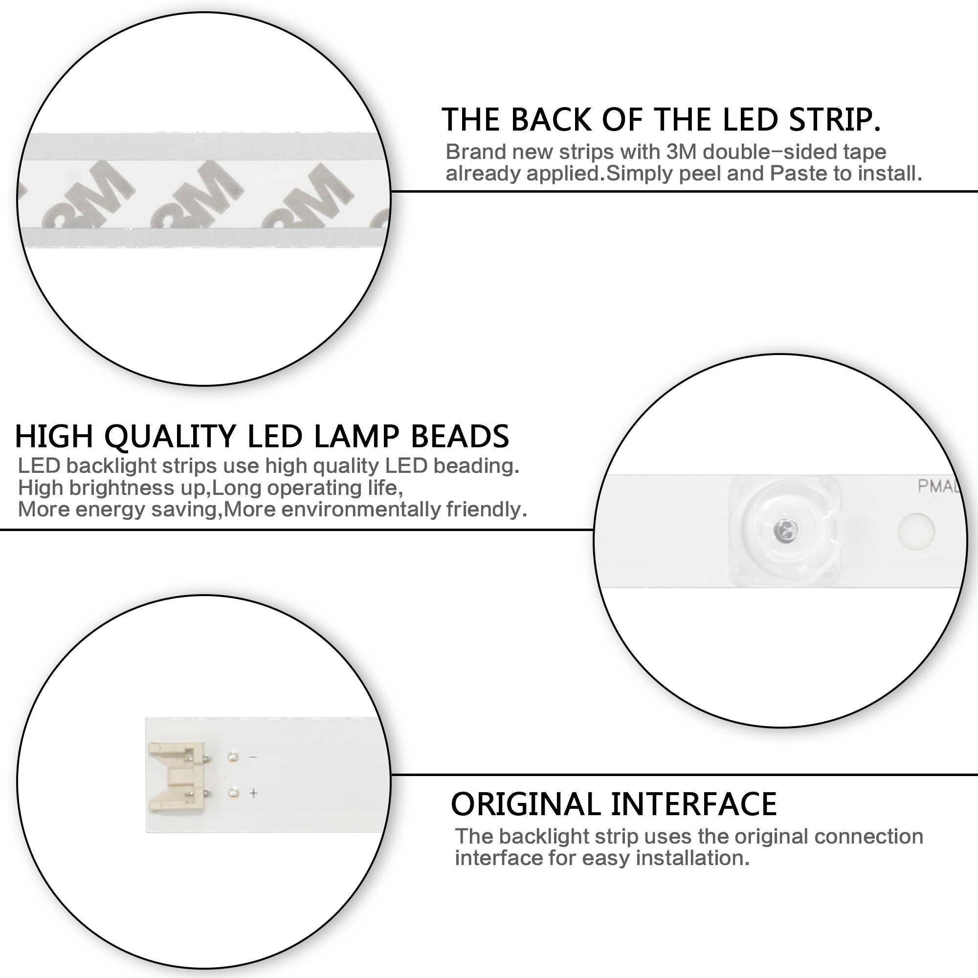 """LED rétro-éclairage bande 6 lampe pour LG innotek DRT 3.0 32 """"_ A/B 32LB582D 32LB565U 32LB563U 32LY330C HC320DXN-VHHS2-51XX 32LF560D"""