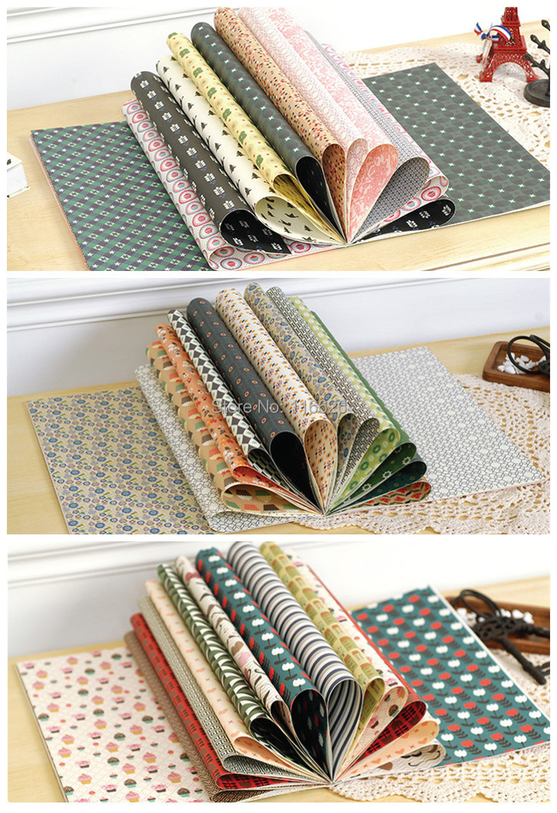 Scrapbook paper cheap - Enogreeting Vintage Art Coated Scrapbooking Paper Wall Decorating Papercraft Size 44 5x30 5cm 48sheets