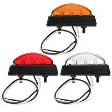 Светодио дный 6 LED красный белый янтарь светодио дный 6 LED Clearence Грузовик Автобус прицепы боковые габаритные индикаторы свет лампы Грузовик Караван 12 В в В 24 В E4