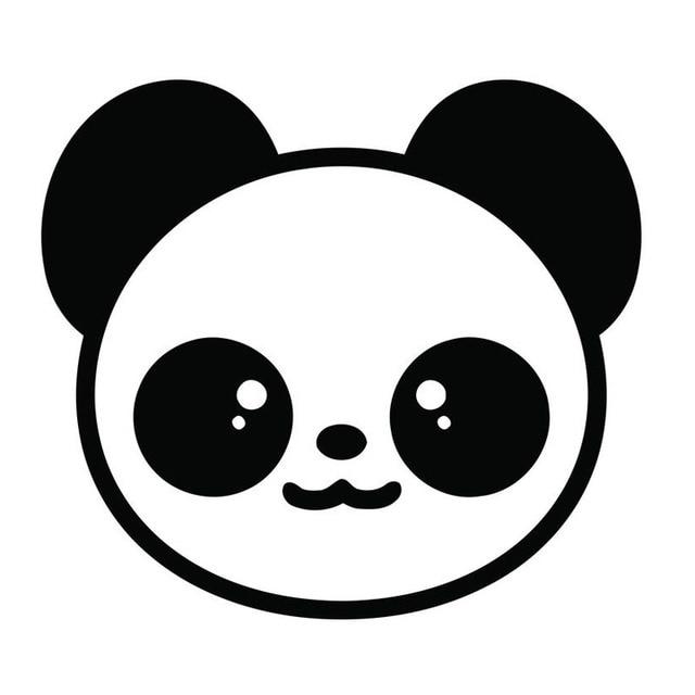 Super 13.1*11.7 CM Adorável Panda Dos Desenhos Animados Cabeça Cauda  NY37
