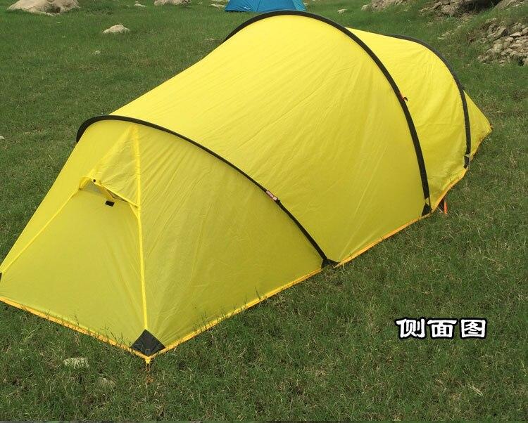 3F UL Gear 2 personne 4 saison 15D silicone enduit aluminium tige tunnel randonnée pêche plage anti pluie/vent extérieur camping tente