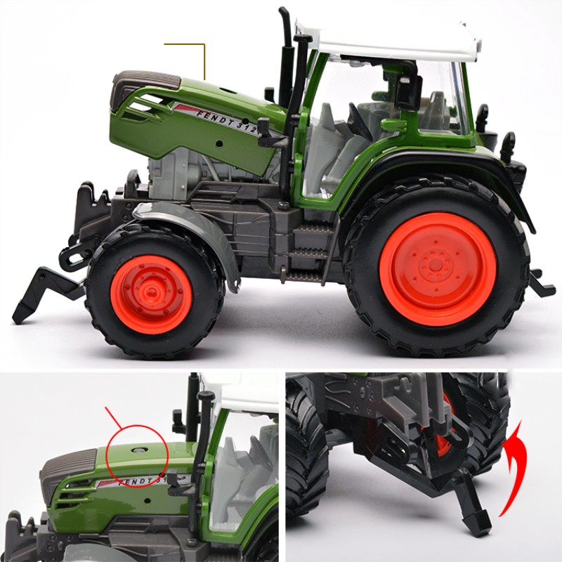 Image 2 - Farm Vehicles Car Model Engineering Car Model Tractor Engineering Car Tractor Toy Model For Children Action Figure Toys-in Diecasts & Toy Vehicles from Toys & Hobbies