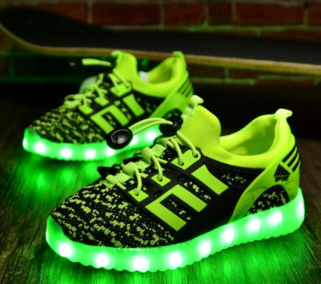 Spring Fashion Brand Children Casual Shoes with USB Rechargeable Boys Girls Glowing Led Light Up Shoe Luminous Sneakers for Kids new arrival spring autumn children shoes boys girls single shoes girls boys sneakers high quality casual canvas cs 119