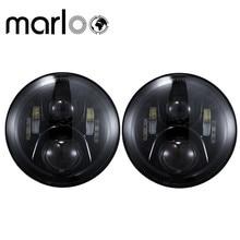 Marloo DOT 7 Inch Round 120W LED Headlight For Jeep Wrangler JK TJ Harley Motorcycle Defender Hummer 7