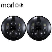 Marloo DOT 7 Inch Round 120W LED Headlight For Jeep Wrangler JK TJ Harley Motorcycle Defender