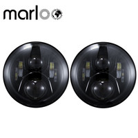 Marloo DOT 7 Inch Round 120W LED Headlight For Jeep Wrangler JK TJ Harley Motorcycle Defender