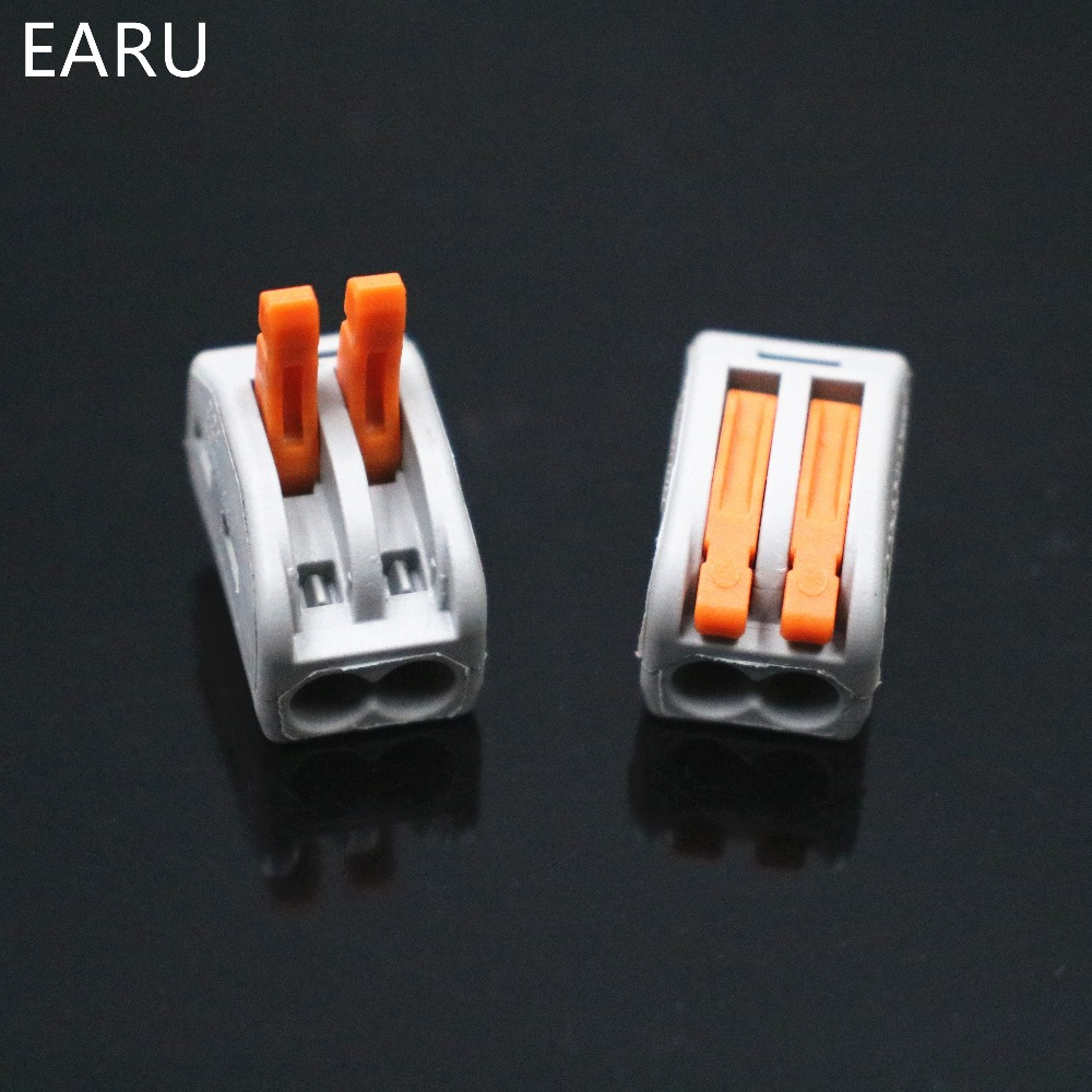 Image 2 - 2000pcs for Russian 222 412 PCT 212 Universal Compact Wire Wiring Connector 2pin Conductor Terminal Block Lever 0.08 2.5mm2Voltage Meters   -