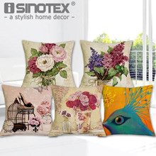 Luxury Flower and Vase Cushion Cover Decorative Pillowcase Bed Car Decor Sofa Vintage Modern Cushion Coussin Home Decoration(China)